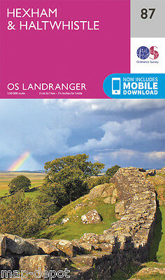 HEXHAM & HALTWHISTLE LANDRANGER MAP 87 - Ordnance Survey - OS - NEW 2016