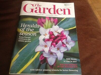 The Garden RHS January 2017 Royal Horticultural Society Pruning Wisteria