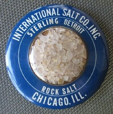 INTERNATIONAL SALT CO. Sterling Detroit Rock Salt CHICAGO Paperweight ca1920