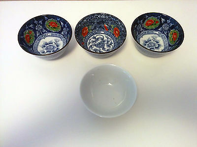 Cuencos decoración porcelana japonesa y china con sello autenticidad