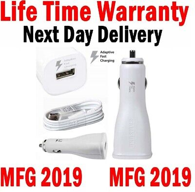 Samsung Fast Car Charger For Galaxy S7 S6 Edge Note 5/4 15W Cable White Color