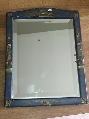 Antique Chinese Japanned wooden mirror