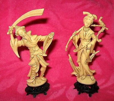 Vintage Chinese Asian Oriental Man & Woman Figures - Italy