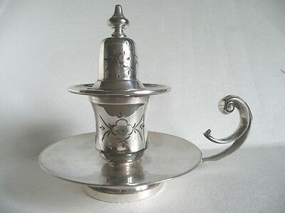 SILVER Plated ~ Chamber Stick & Snuffer ~
