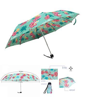 Lilac Mini Compact Umbrella Manual Open Close Cute Umbrellas Windproof Waterproo