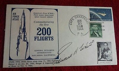 EDWARD H. WHITE II NASA ASTRONAUT HAND SIGNED AUTOGRAPH 1964 200 flights