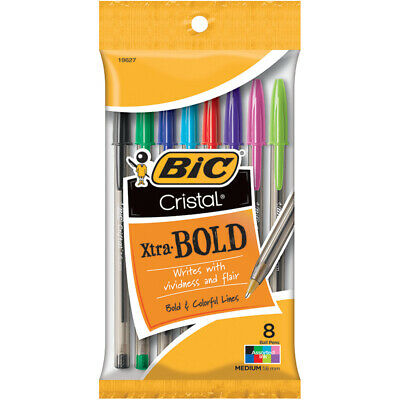 Bic Msbap81-Ast Bic Crystal Extra Bold Assorted Colors 8 Count, PartNo 270229, b
