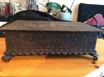 Tirola Heimatwerk antique austrian  metal box from Innsbruck Rare collectable