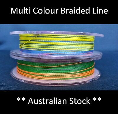 ** Clearance ** PE Braid Fishing Line 300m Reel Spectra Dyneema Multi Colour