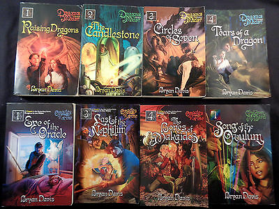Lot of 8 by Bryan Davis: Dragons In Our Midst, Oracles of Fire, Children of Bard