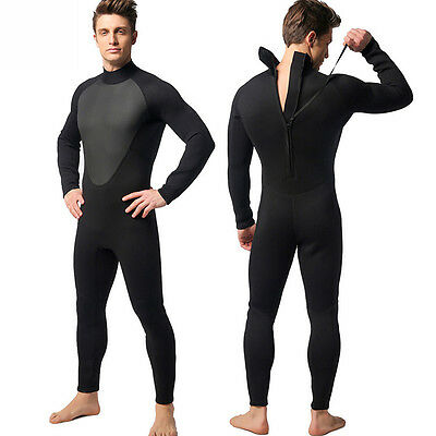 3mm Men Diving Suit Full Wetsuit & Snorkeling Scuba Hooded Surfing Clothes