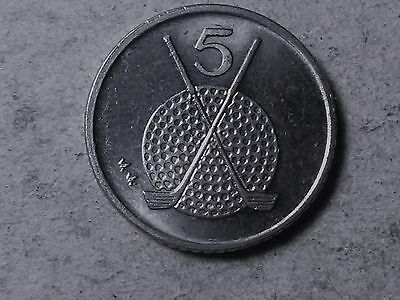 Isle of Man 5 pence . Golf coin