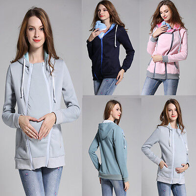 Women Baby Carrier Jacket Kangaroo Warm Maternity Outerwear Coat for Pregnant