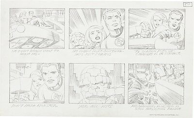 Jack Kirby *Best* Fantastic Four storyboard pencil