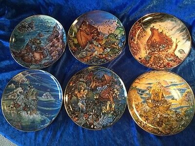 Noah's Ark Franklin Mint Plate Collection By Bill Bell Limited Edition 6 Plates