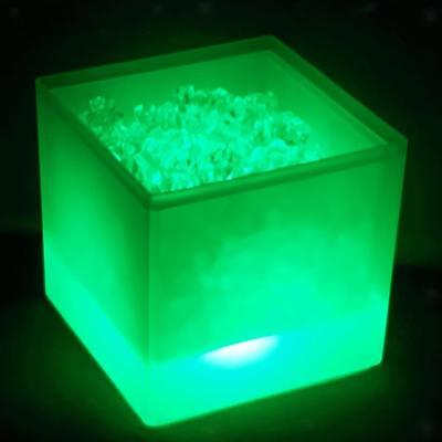 Ice Cooler LED Bucket Drinks Box Champagne 3.5L Wine Cooler Decor Green