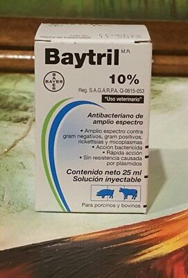 Baytril 10% 25 ml Bayer  exp 11/18