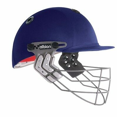 Albion Junior Ultimate Cricket Helmet-SMALL YOUTH -52-53 Cms (Navy)