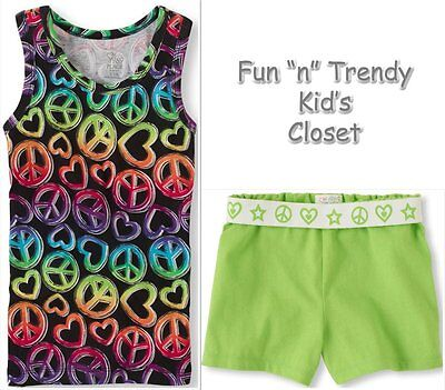 NWT The Children's Place TCP Girls Size Small 5 6 Shorts & Tank Top Shirt OUTFIT
