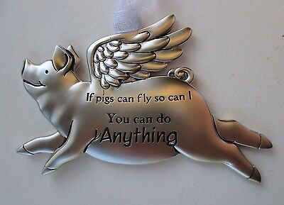 o You can do anything If Pigs can Fly then so can I pig ORNAMENT Ganz angel