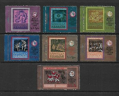 SHARJAH - mint 1966 World Cup Football Soccer, set of 7, MNH MUH