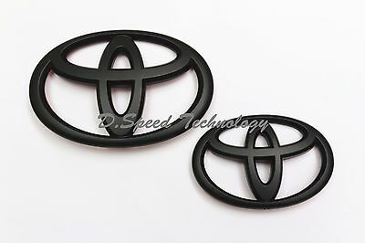 Matt Black Front and Rear Badge Emblem for Toyota 86 GT86 FRS TOYOTA 2017+