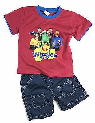 New Boys Children Kids Red The Wiggles Summer Pyjamas Tshirt Pants Outfit Style1