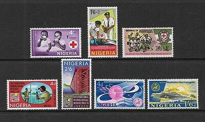 NIGERIA - mint 1966 Red Cross, 1967 Hydrological & Meterological sets, MNH MUH
