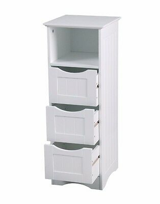 Colonial Bathroom Slim 4 Chest Of Drawers Cabinet Tong