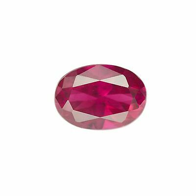 1.1ct Opaque Ruby Reddish Pink Color Lab Created Loose Stone