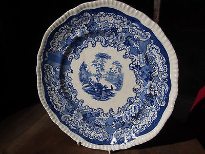 Antique Victorian Flow Blue Athena Bistro Plate