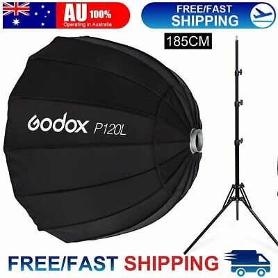 Godox P120L 120cm Parabolic Softbox Reflector for Flash Speedlite Bowens Mount