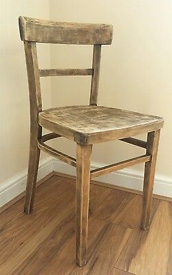 Vintage Old Wooden School Chair