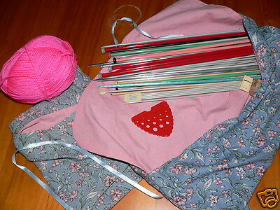 bulk lot knitting needles etc with beehive gauge and cloth pouch