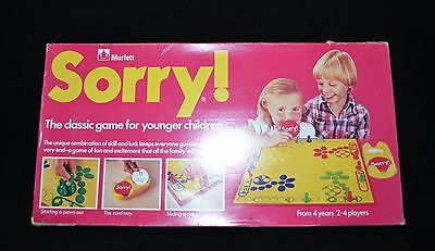 Sorry Board Game By Murfett  Vintage 1980 For Younger Children