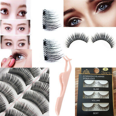 4PCS/10Pair 3D Magnetic Mink False Eyelashes Natural False Eye Lashes Extension