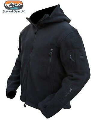 Black Tactical Military Fleece Recon Special Forces Jacket Security Sizes S-XXXL