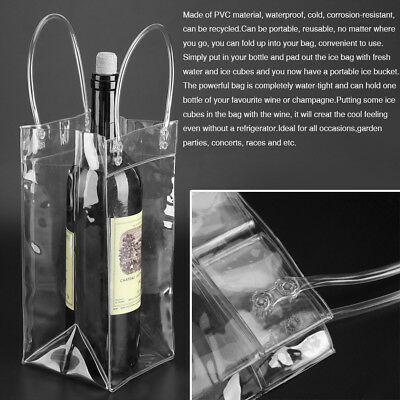 Insulated PVC Ice Bottle Cool Bag Picnic Drinks Carrier Wine Champagne Cooler SE