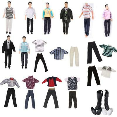 Fancy Fashion Outfits Clothes Top Pant Shoes For Barbie's boy friend Ken Doll