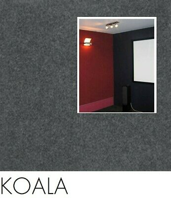 FreePost 2.16 sqm BLACK (Koala Bla01) Acoustic Fabric Peel n Stick Wall Tiles