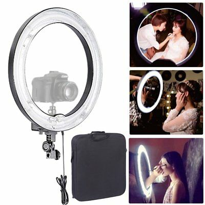 "Studio 600W 5500K 19"" 48cm Dimmable Photo Video Diva Ring Light Make Up AU"