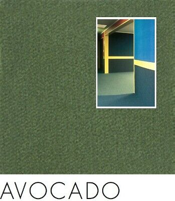 FreePost 2.16 sqm GREEN (Avocado Grn01) Acoustic Fabric Peel n Stick Wall Tiles