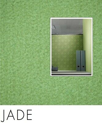 FreePost 2.16 sqm GREEN (Jade Grn02) Acoustic Fabric Peel n Stick Wall Tiles