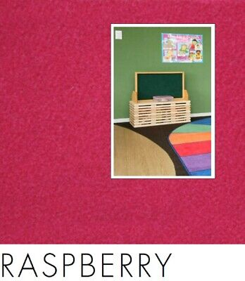 FreePost; RED01 2.16 sqm of; DIY Acoustic Fabric Wall Tiles RASPBERRY