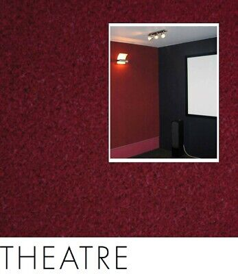 FreePost; RED02 2.16 sqm of; DIY Acoustic Fabric Wall Tiles THEATRE