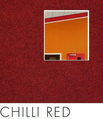 FreePost 2.16 sqm RED (Chilli Red Red03) Acoustic Fabric Peel n Stick Wall Tiles
