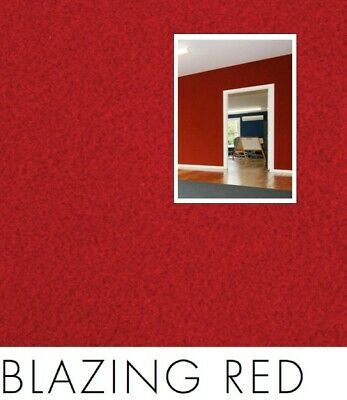 FreePost 2.16 sqm RED(Blazing Red04) Acoustic Fabric Peel n Stick Wall Tiles