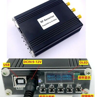 OLED digital ADF5355 54M to 13.6GHz RF Source Generator Frequency Source moudle