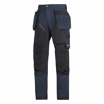Snickers RuffWork Heavy Duty Work Trousers. Knee Pad & Holster Pockets 6203 Navy