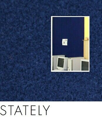 FreePost; BLU05 2.16 sqm of; DIY Acoustic Fabric Wall Tiles STATELY
